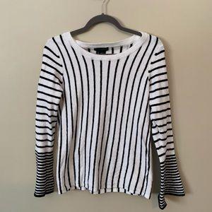 EUC. Bell sleeve striped shirt.